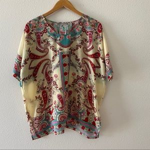 Johnny Was Paisley Silk Blouse